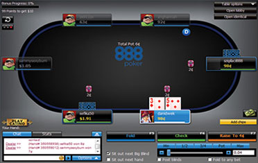 888poker gaming table