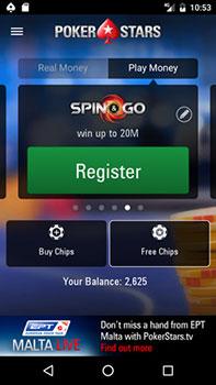Регистрация Pokerstars на сматфоне