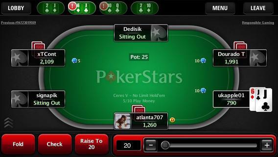 Pokerstars tables
